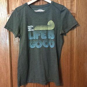 Women's Life Is Good Creamy Shirt Medium